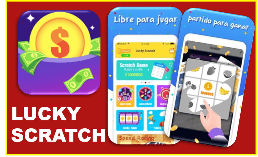Lucky Scratch app para ganar dinero a PayPal
