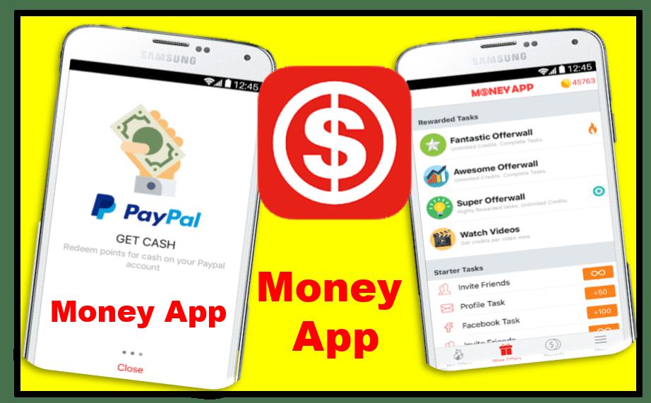 Money App aplicación para ganar dinero a PayPal